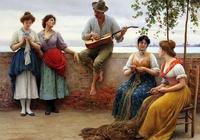奧地利大師尤金·德·布拉斯人物油畫作品欣賞:美若天仙的女子