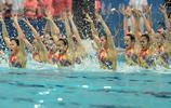 花樣游泳——四川隊獲得自由組合項目季軍