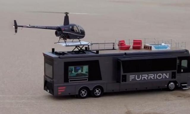 自帶直升機、泳池!全球最壕房車僅此一臺,堪稱移動城堡