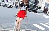 個子矮MM輕鬆擁有大長腿,10款T恤+短裙遮肉顯膚白,打造夏日淑女風