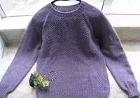 女士毛衣編織款式之從上往下織圓領毛衣教程