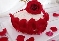 浪漫七夕專款蛋糕,擁有玫瑰花的蛋糕