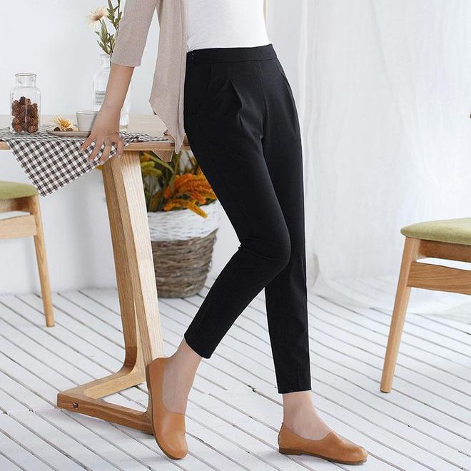 腿粗就別再穿運動褲了,你適合這樣的加絨休閒褲,顯高顯瘦又洋氣
