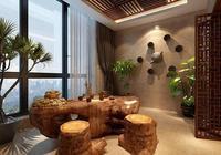 中式的神韻展現於茶室