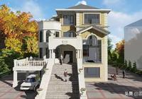 四層歐式別墅,特別的清新淡雅,建房能建得如此,設計真的重要
