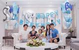 天津權健門將張鷺給自己兒子過生日,一家人在一起其樂融融