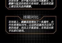 全民突擊S級麒麟屬性詳解