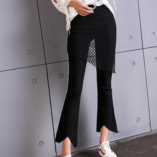 胯寬腿粗的女人最適合穿這樣的褲裝,揚長避短,秒秒鐘穿出筷子腿