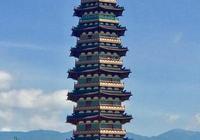 金華城市的桅杆:萬佛塔