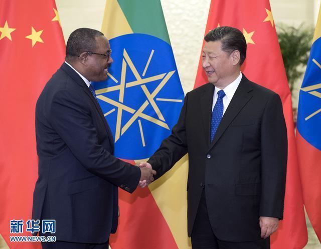 習近平會見埃塞俄比亞總理海爾馬里亞姆