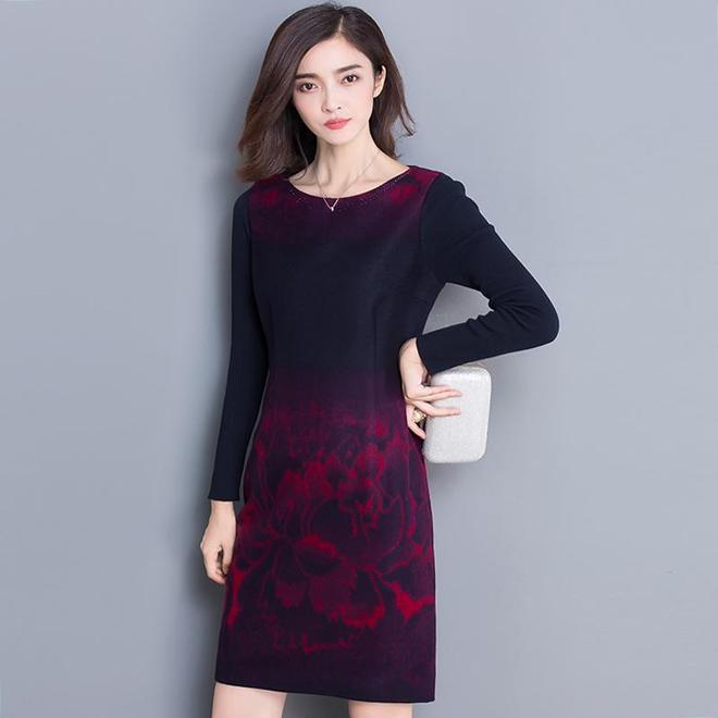 加肥加大碼連衣裙,遮肉顯瘦的設計,秋天也可以穿的很優雅