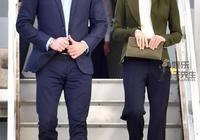 36歲凱特王妃第一次穿闊腿褲,1尺8小腰太亮眼,不輸梅根褲裝打扮
