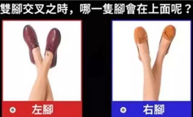 你喜歡哪隻腳放在上面,測出你的隱藏個性是什麼