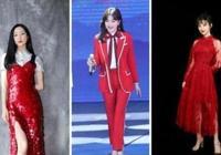 楊冪上北京臺春晚的兩套造型,穿紅色針織裙配長靴,美到骨子裡!