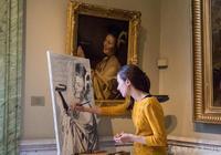 在美術館臨摹價值幾百上千萬的油畫,心驚膽顫