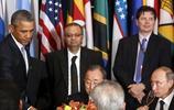 普京和奧巴馬尷尬的嚴肅,化解於奧巴馬右手!
