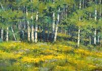 美國藝術家 羅勃特·羅姆 風景油畫作品