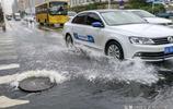 長春暴雨過後,內澇嚴重 眾多私家車被淹