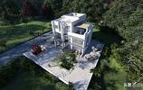 三層純白立面現代風格別墅,建築簡潔明快不誇張,更符合大眾審美