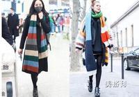 這個冬季選擇長度過腰的新潮圍巾,比短款更適合你