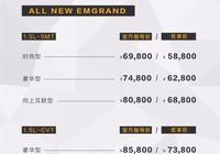 帝豪系列多款新車上市 售6.98萬元起