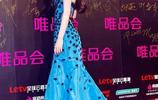 Angelababy模特出身,穿這件禮服卻被唐藝完勝!