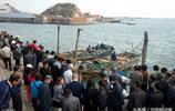 青島碼頭上純海捕刀魚 8塊錢一斤 煎炸晒魚乾味道鮮