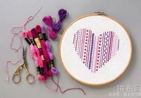 刺繡新手——心形刺繡線跡採樣器教程