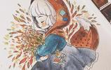 森林系魔法小蘿莉水彩插畫,第一張就戳中我的少女心!