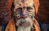 印度教聖人的臉上藝術