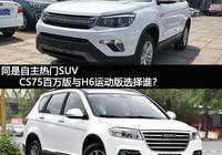 同是自主熱門SUV CS75百萬版與H6運動版選擇誰?
