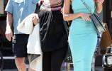 英國超模艾米麗·拉塔科夫斯基淡綠色長裙亮相洛杉磯街頭