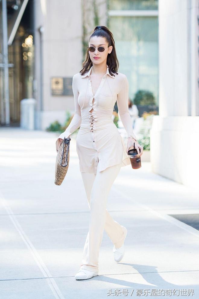 超模貝拉·哈迪德無印良品風現身紐約街頭,超模就是超模