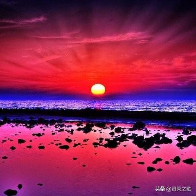 當藝術遇上自然就會誕生新的自然藝術,一組美麗的夕陽欣賞