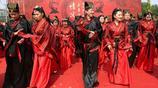 穿各朝服飾的集體婚禮,你覺得哪個朝代的新娘最美
