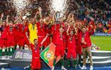 歐洲國家聯賽決賽葡萄牙1比0荷蘭,C羅作為隊長捧杯激動時刻