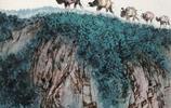 李山畫家《駝鈴飛雪 湧出於筆端》
