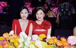 秦嵐興奮發與女神林青霞合影,兩人相差27歲,眉目相似像姐妹