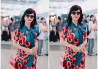 65歲趙雅芝狀態太好了!穿波點透視紗裙+大紅脣,這女人花期真長