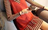 時髦妹紙告訴你初秋怎麼穿?針織毛衣裙修身顯瘦顯高挑巨洋氣