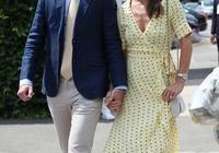 凱特王妃一家現身看比賽,妹妹黃裙清新甜美,媽媽綠裙氣質更不輸