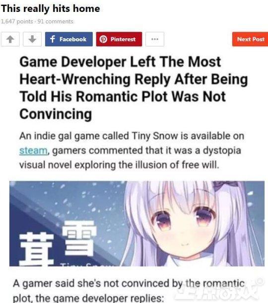 國產遊戲上線steam獲96%好評,因為作者扎心回覆被國外玩家同情?