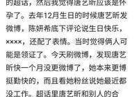 唐藝昕迴應懷孕:我不會劈叉怎麼辦?網友:小心像趙麗穎一樣打臉