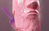 把冰激凌做成了雕塑