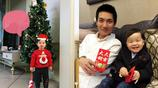 36歲陳楚生全家照,模特妻子素顏溫婉動人,可愛兒子有趣像極爸