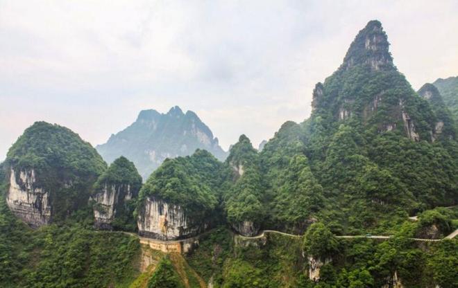 湖南圖集:實拍張家界天門山最美風景2017