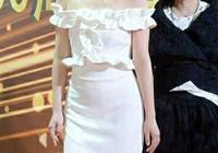 當92斤殷桃和86斤唐嫣穿小白裙,網友:終於找到不減肥的理由