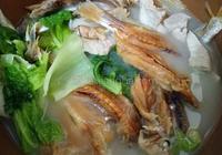 自晒海魚乾煲豬腩肉青菜煲