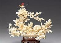 木雕 木上生花
