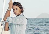 維密天使超模亞歷山大·安布羅休演繹歐米茄Aqua Terra女士腕錶廣告大片